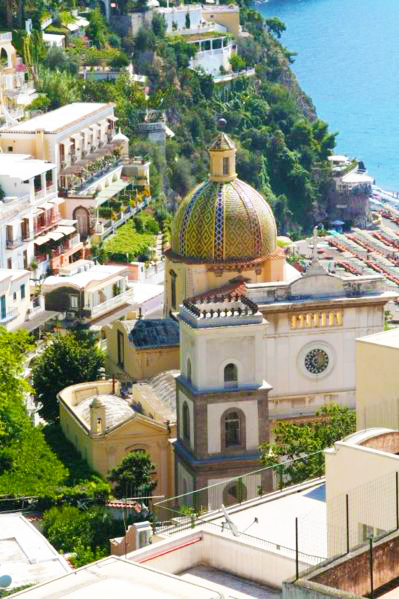 in positano itself  you can go